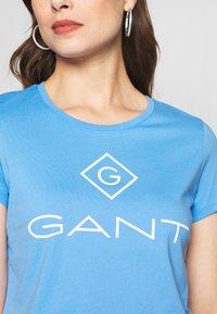 GANT - LOCK UP - T-shirt imprimé - pacific blue - 4