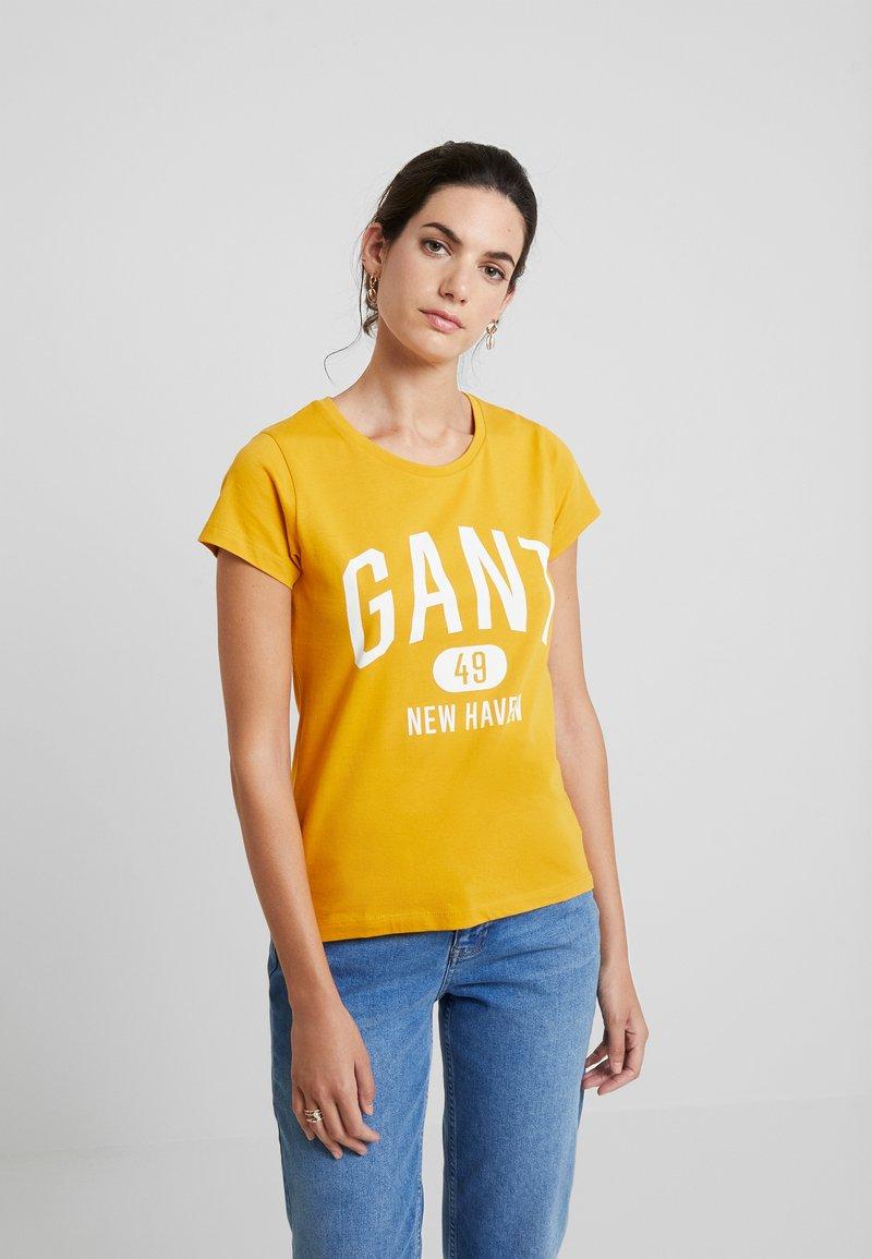 GANT - THE FALL LOGO - Camiseta estampada - ivy gold