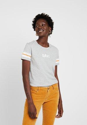 GRAPHIC BLOCK STRIPE - T-shirt imprimé - light grey melange