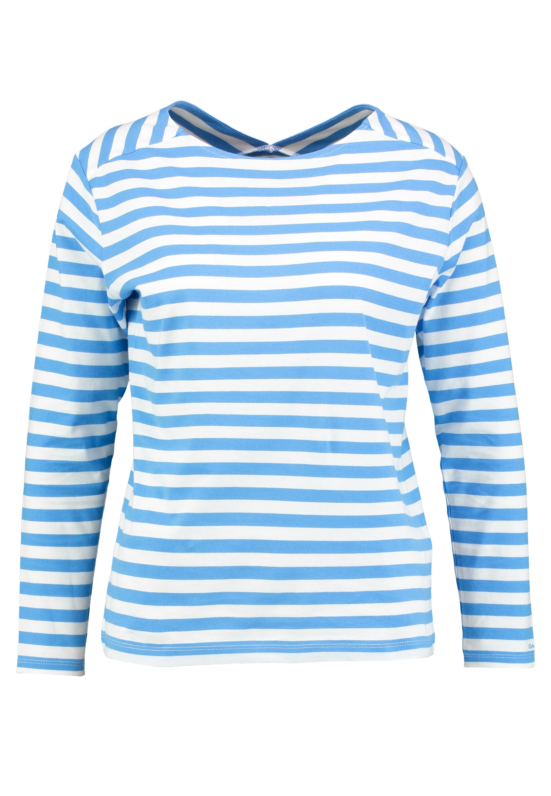 GANT D1. STRIPED TOP - Bluzka z długim rękawem - pacific blue