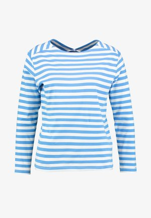 D1. STRIPED TOP - Longsleeve - pacific blue