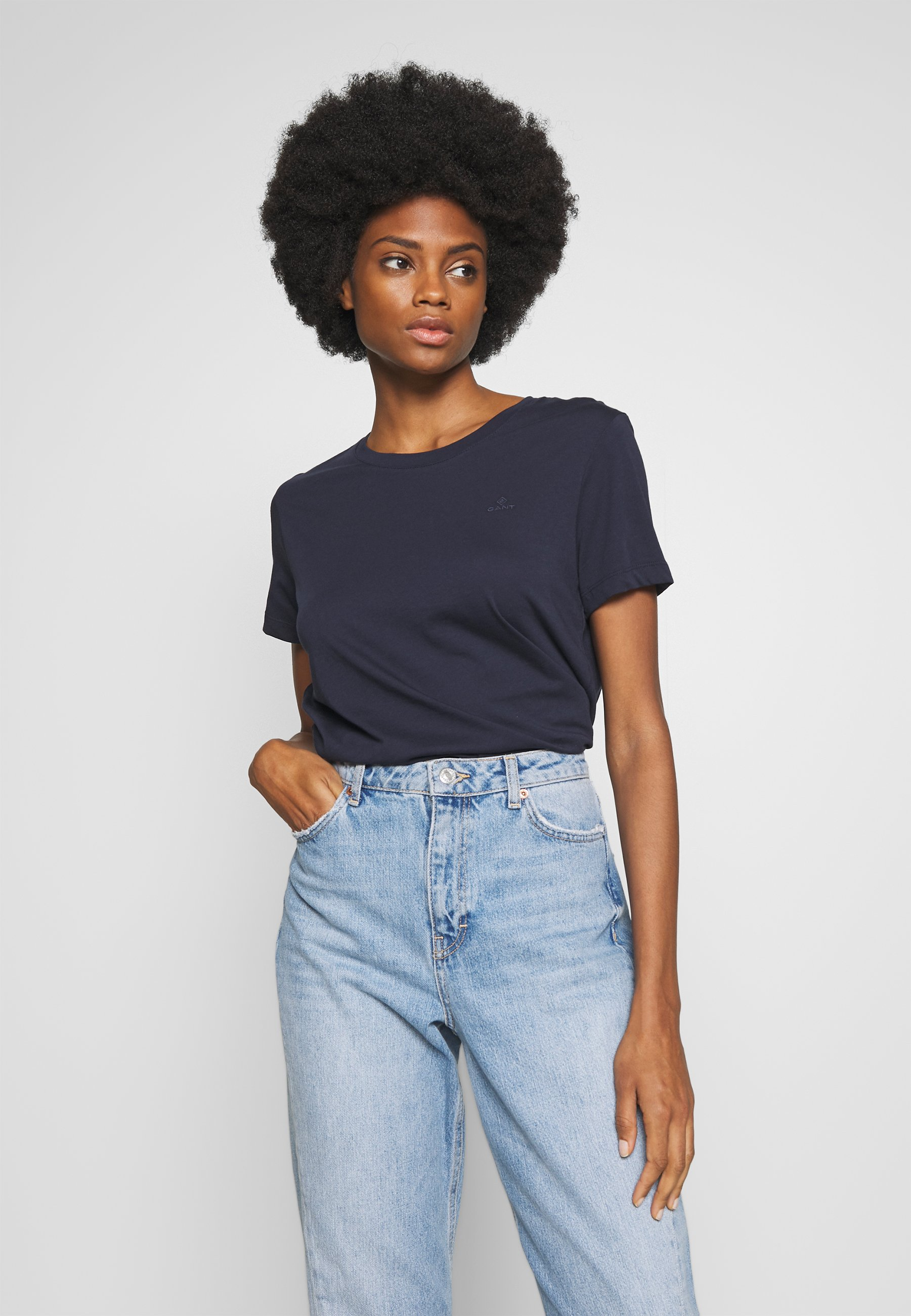 GANT THE ORIGINAL  - T-shirts - evening blue