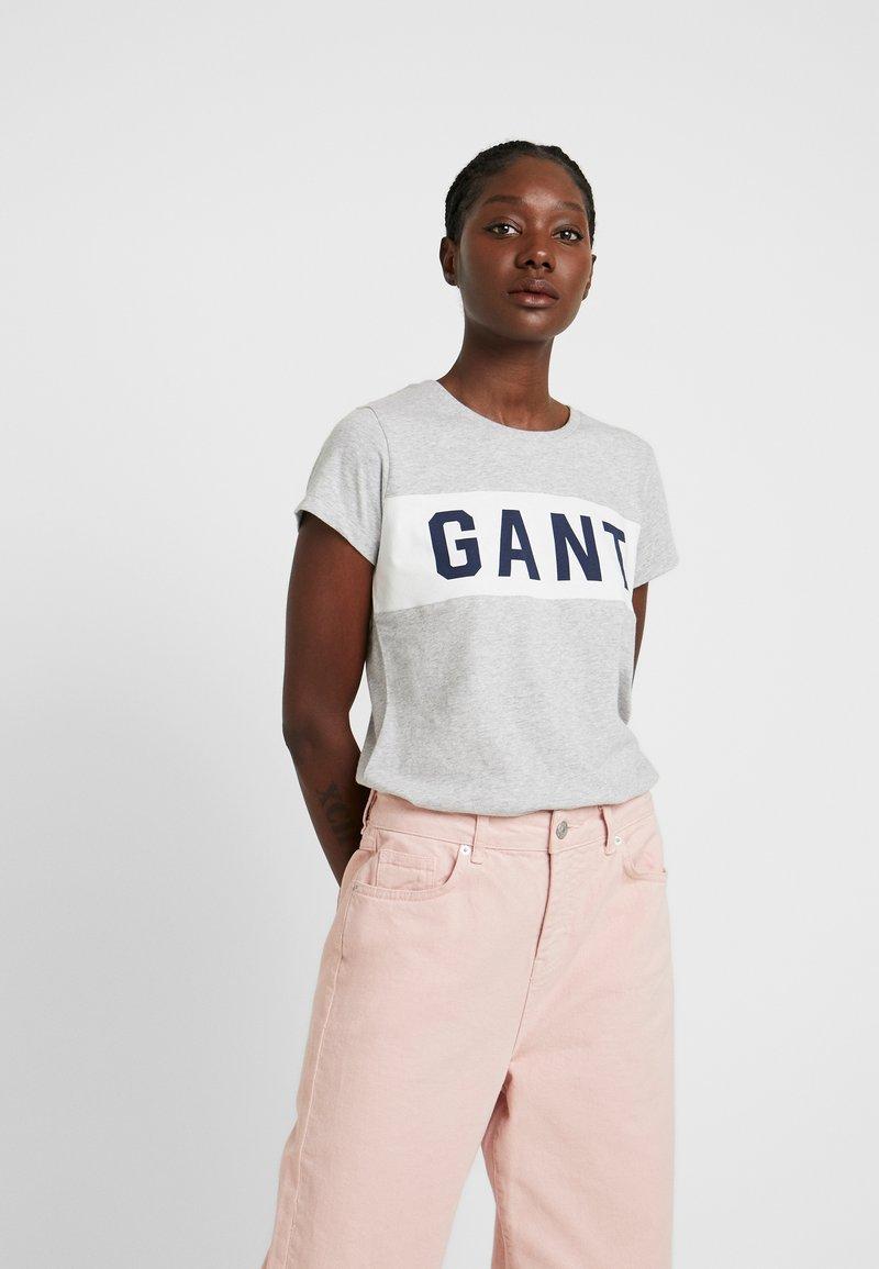GANT - Print T-shirt - light grey melange