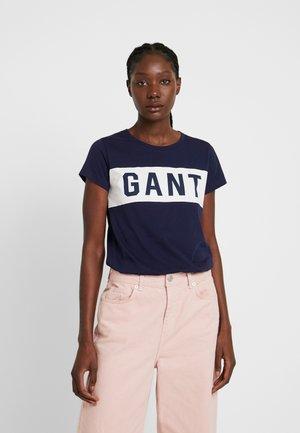 T-shirt print - evening blue