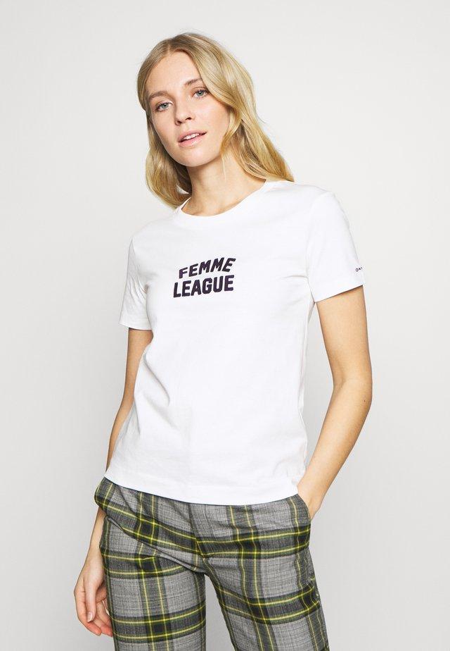 FEMME LEAGUE - Camiseta estampada - eggshell