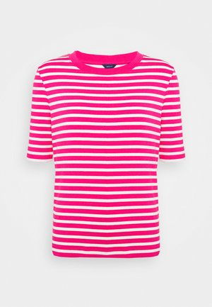 STRIPED - T-shirt imprimé - rich pink
