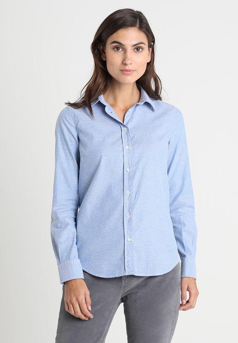 GANT - SNOWDOT OXFORD - Button-down blouse - nautical blue