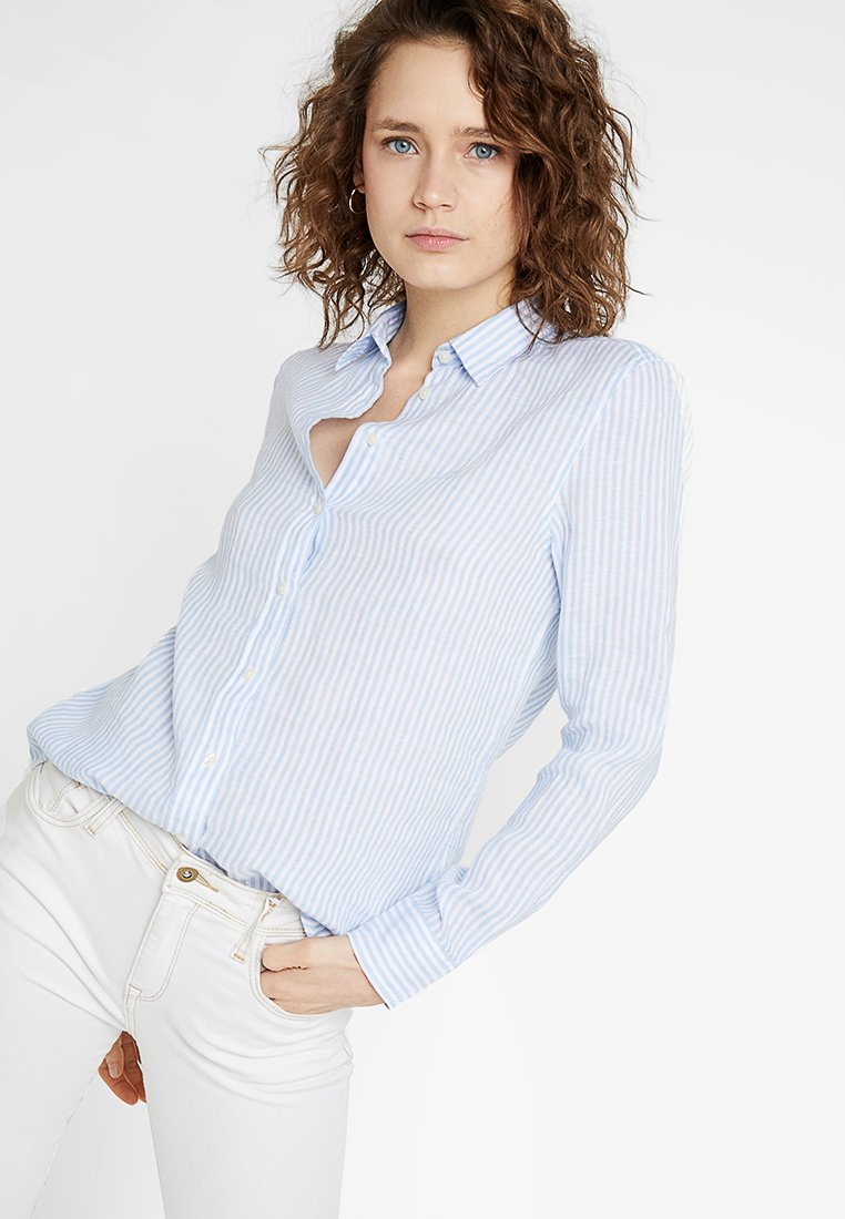 GANT - THE CHAMBRAY STRIPE - Button-down blouse - capri blue