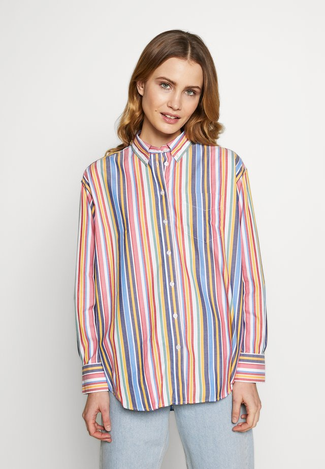 STRIPE - Button-down blouse - warm sun