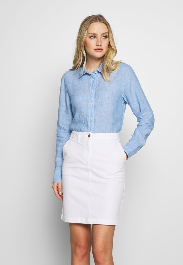 CHAMBRAY - Button-down blouse - pacific blue