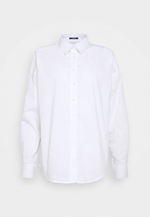OVERSIZED SOLID - Button-down blouse - white