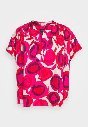 FLUID PRINTED DESERT - Bluser - rich pink