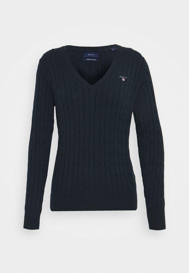 STRETCH CABLE - Jersey de punto - evening blue