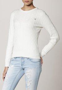 GANT - CABLE CREW - Jersey de punto - off white - 1