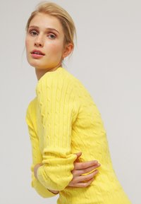 GANT - CABLE CREW - Pullover - clear yellow - 3