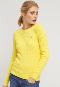 GANT - CABLE CREW - Pullover - clear yellow - 0