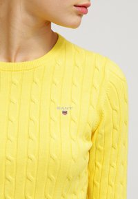GANT - CABLE CREW - Pullover - clear yellow - 4