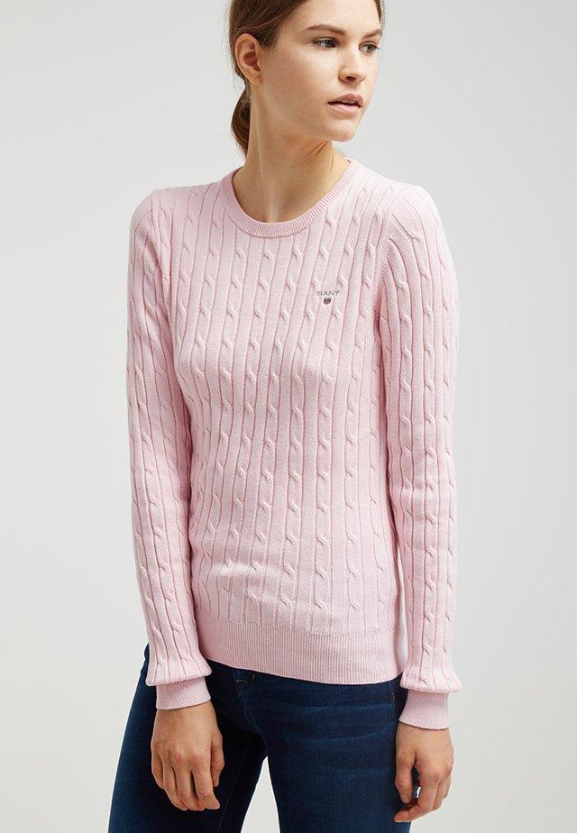 Stickad tröja - nantucket pink