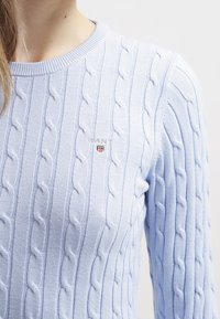 GANT - CABLE CREW - Sweter - hamptons blue - 4