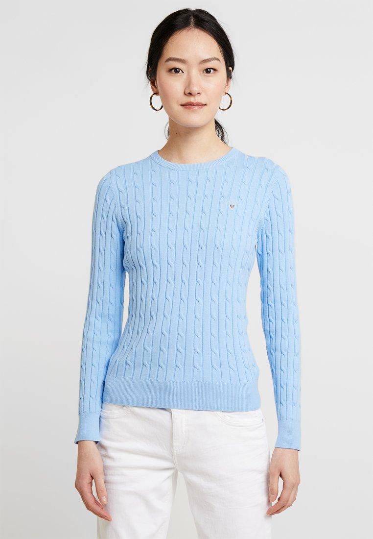 GANT - CABLE CREW - Strickpullover - capri blue