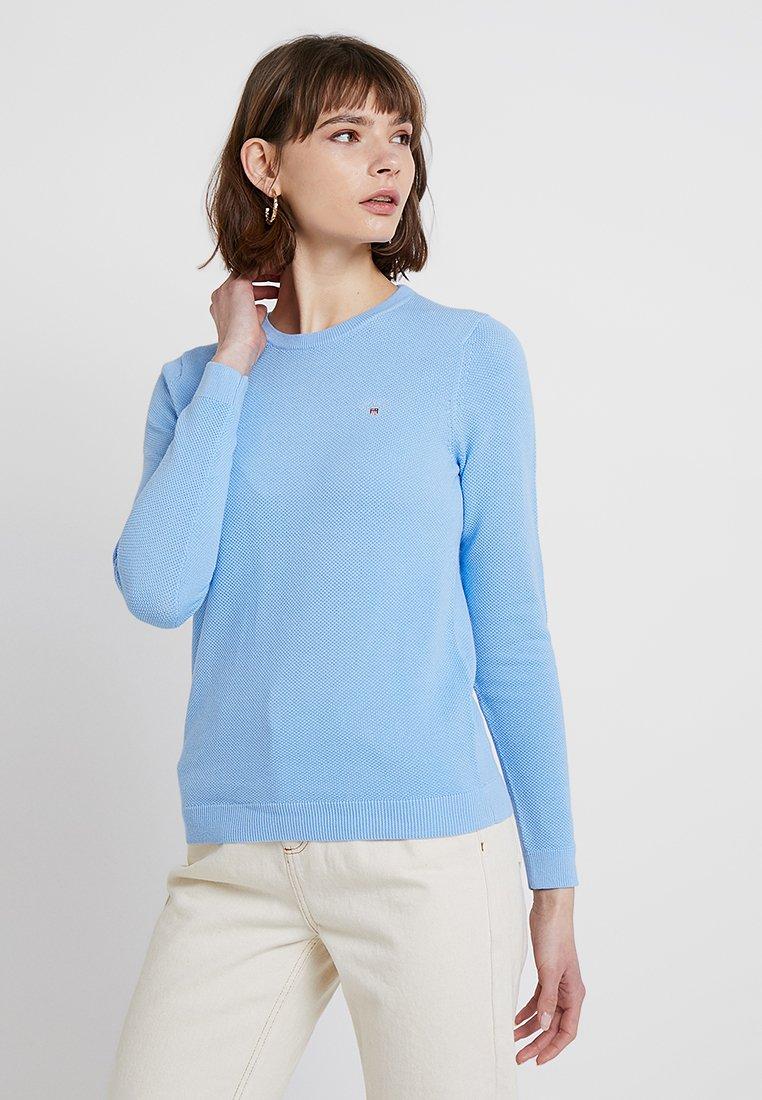 GANT - CREW - Strickpullover - capri blue