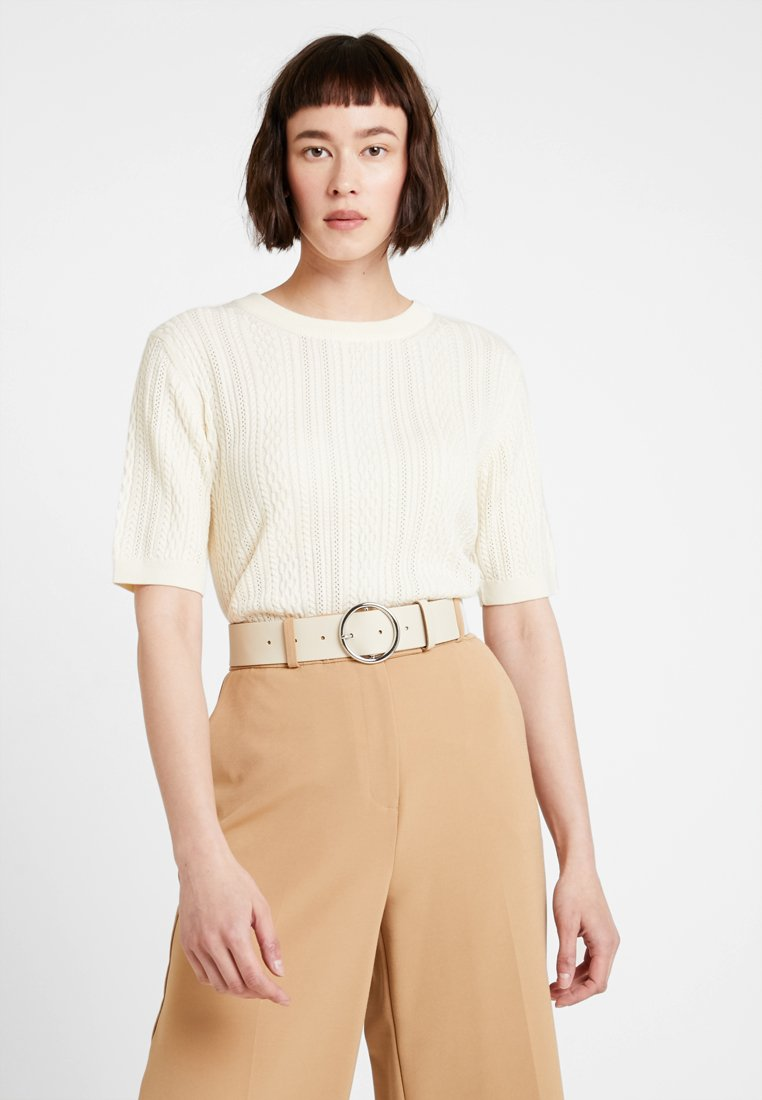 GANT - POINTELLE CABLE CREW - Jumper - cream