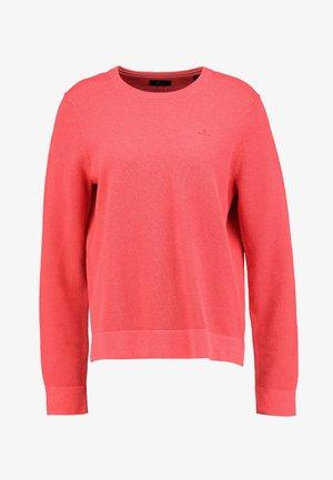 CREW - Jersey de punto - dark pink melange