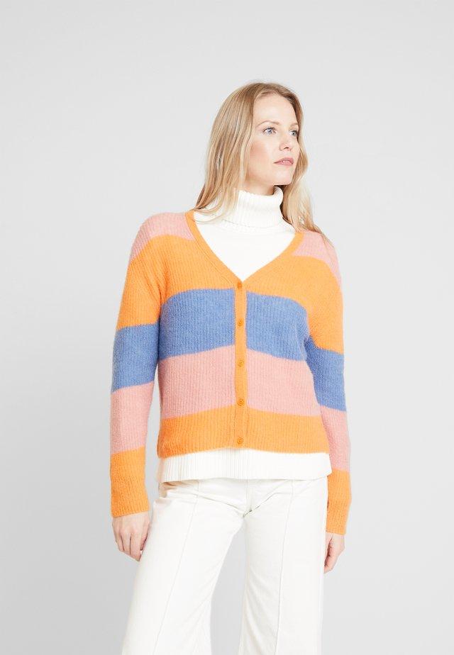 STRIPED CARDIGAN - Neuletakki - multicolor