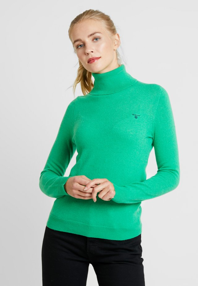 EXTRAFINE ROLLNECK - Stickad tröja - green