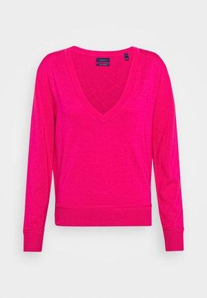 LIGHT V NECK - Pullover - rich pink