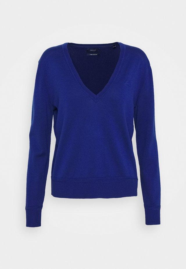LIGHT V NECK - Jersey de punto - crisp blue