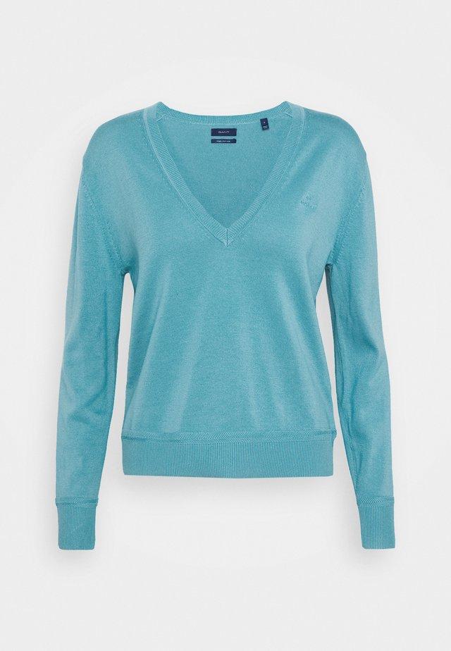 LIGHT V NECK - Jersey de punto - seafoam blue