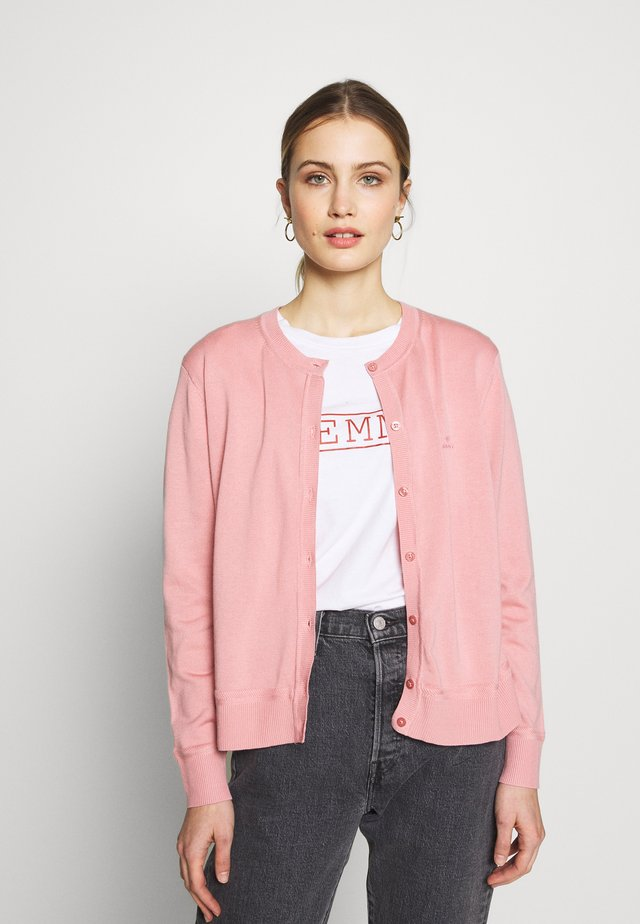 LIGHT CREW CARDIGAN - Chaqueta de punto - summer rose