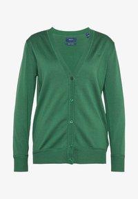 GANT - VNECK CARDIGAN - Cardigan - leaf green - 4