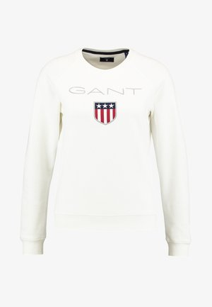 SHIELD LOGO C NECK  - Sweatshirt - eggshell