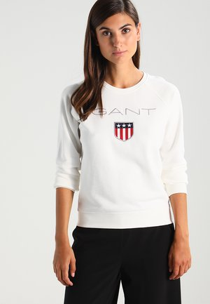 SHIELD LOGO C NECK  - Sweater - eggshell