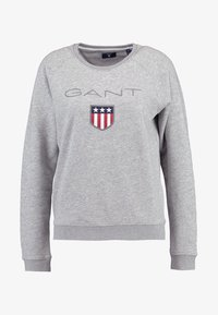 GANT - SHIELD LOGO C NECK - Collegepaita - grey melange - 4