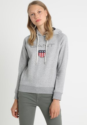SHIELD HOODIE - Sweat à capuche - grey