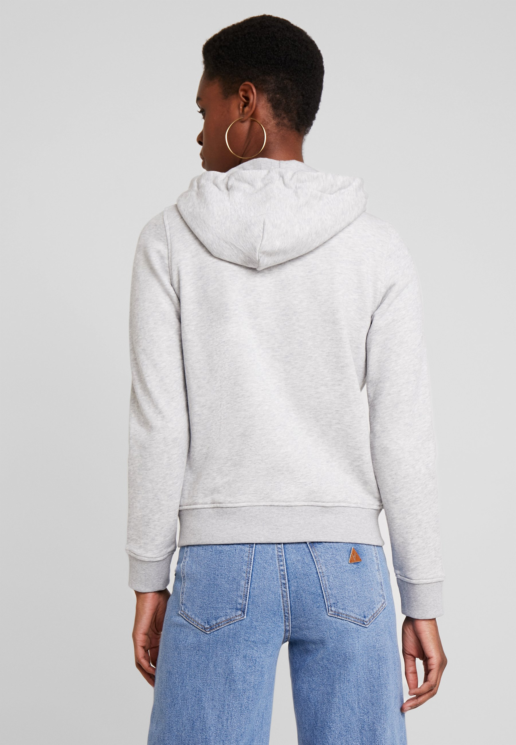 Melange Full À Gant Zip Light HoodieSweat Grey Capuche 1TlFJ3uKc