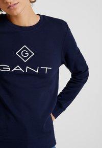 GANT - LOCK UP C-NECK - Collegepaita - evening blue - 5