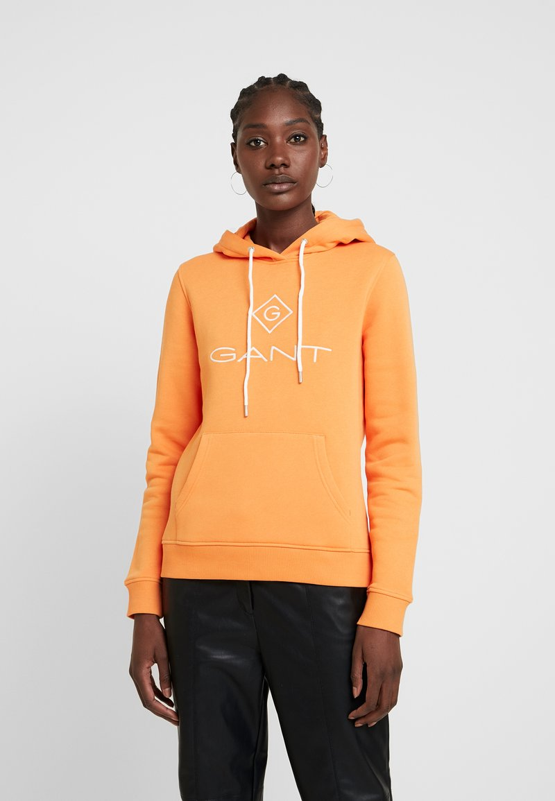 GANT - LOCK UP HOODIE - Jersey con capucha - amberglow