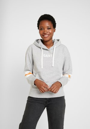 GRAPHIC BLOCK STRIPE HOODIE - Huppari - light grey melange