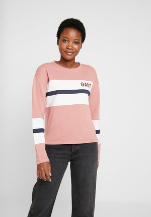 GRAPHIC BLOCK STRIPE C-NECK - Sweater - ash rose