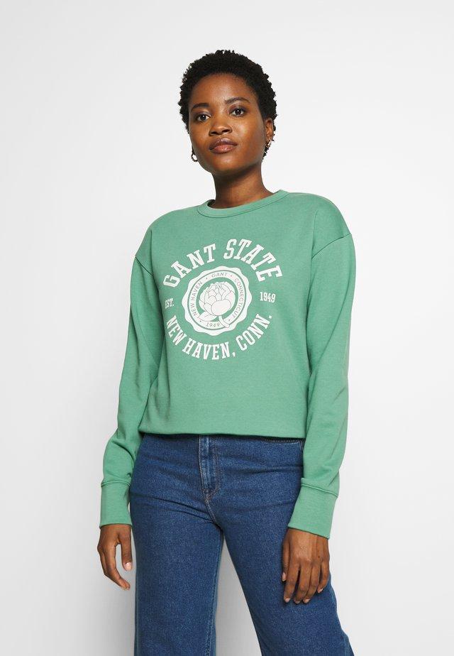 PEONY LOGO  - Sweatshirt - jade green