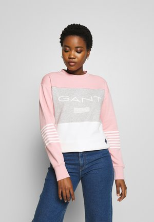 STRIPE NECK - Sweater - summer rose