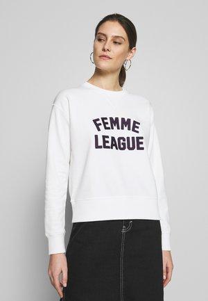 FEMME LEAGUE CREW - Sweatshirt - eggshell