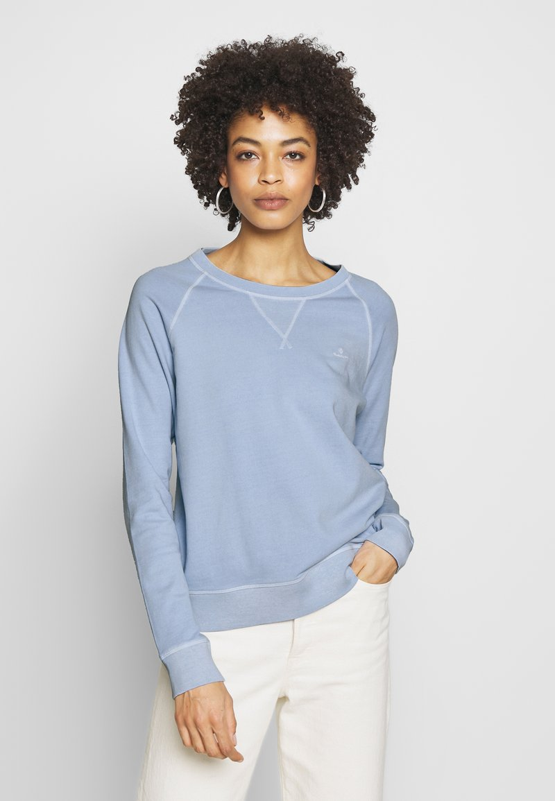GANT - D2. SUNFADED C-NECK SWEAT - Sweatshirt - hamptons blue