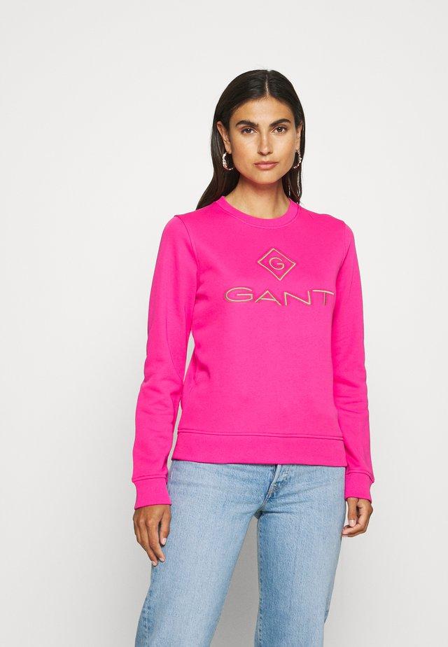 COLOR LOCK UP CNECK  - Sweatshirt - rich pink