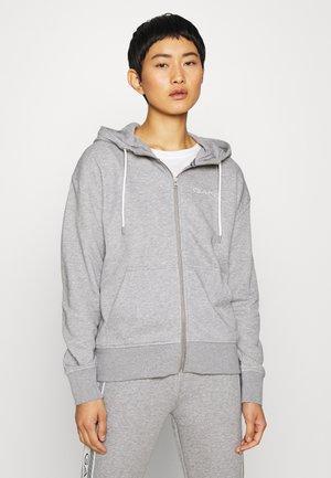 STRIPES FULL ZIP HOODIE - Zip-up hoodie - grey melange