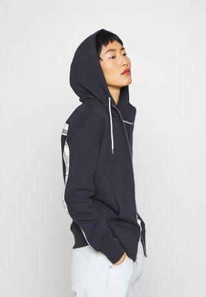 STRIPES FULL ZIP HOODIE - veste en sweat zippée - evening blue